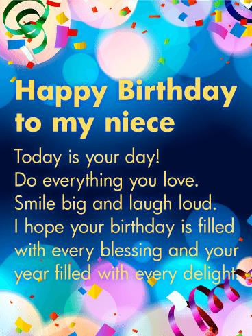 birthday greeting cards for a niece ; e63f4d348d2587d27c942663820aac96