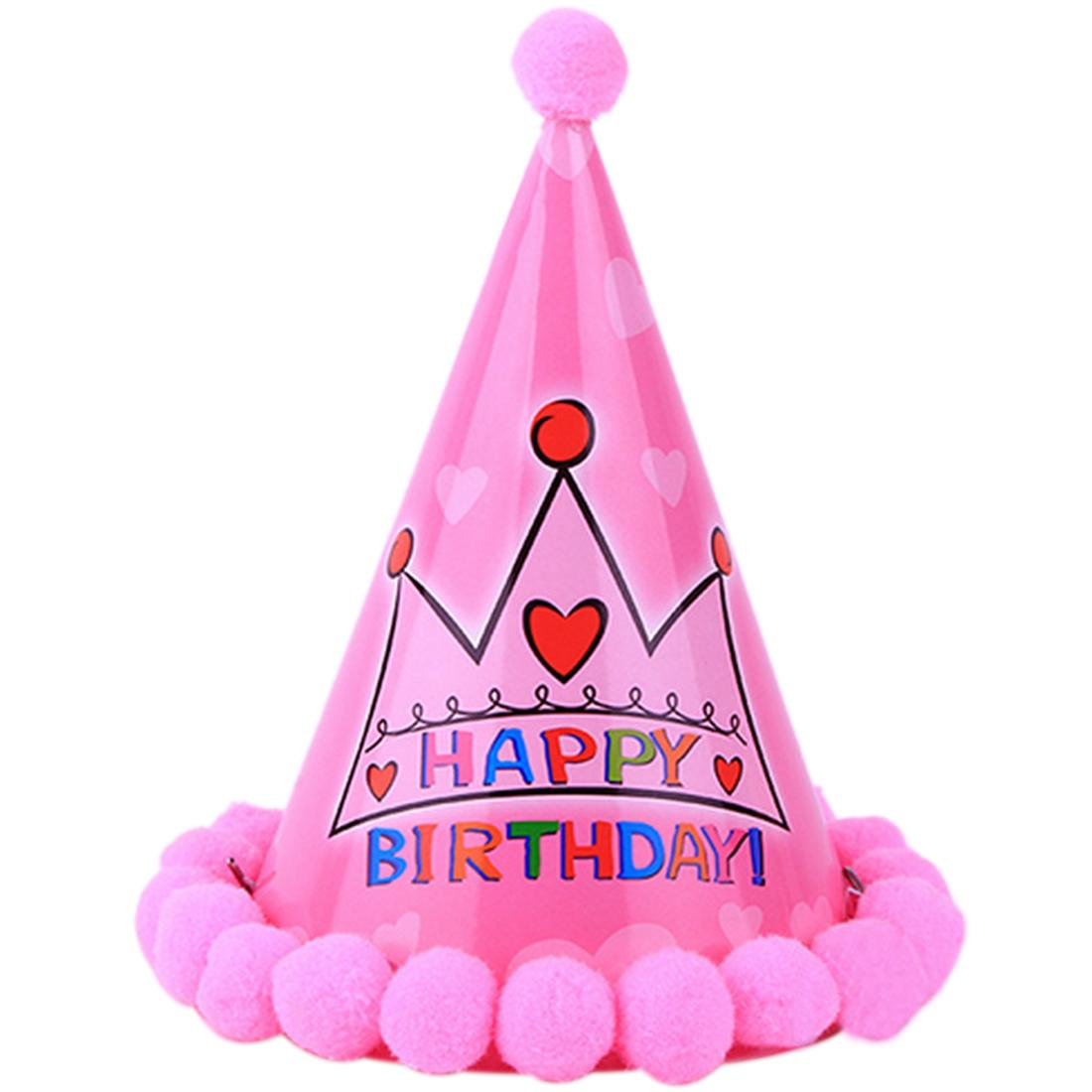 birthday hat photo ; wholesale-paper-party-cone-hat-dress-up-girls