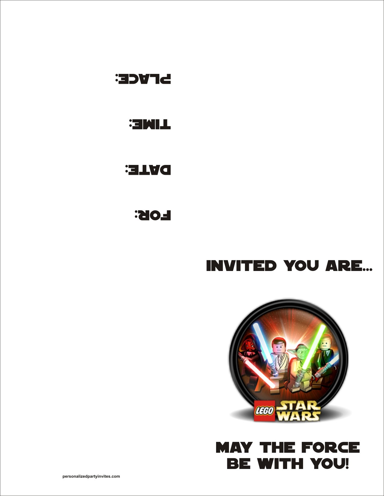 birthday invitation print out ; lsw