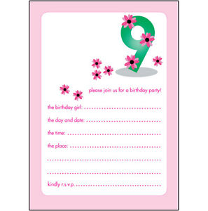 birthday invitations for 10 yr old girl ; s-l300-1