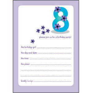 birthday invitations for 10 yr old girl ; s-l300-2