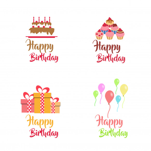 birthday logo design ; birthday-vector-logo-design-collection_1340-2139