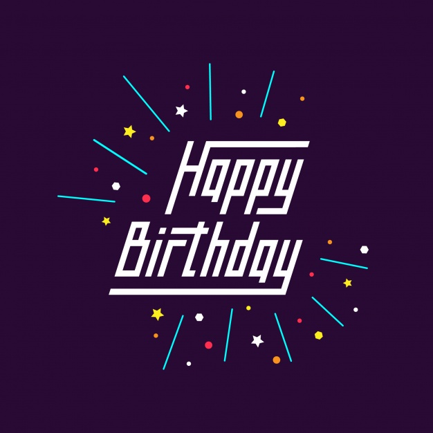 birthday logo design ; happy-birthday-background_1408-25