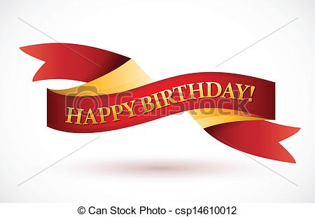 birthday logo design ; happy-birthday-red-waving-ribbon-banner-vector-clip-art_csp14610012