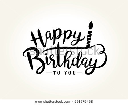 birthday logo design ; stock-vector-happy-birthday-greeting-card-with-lettering-design-551579458