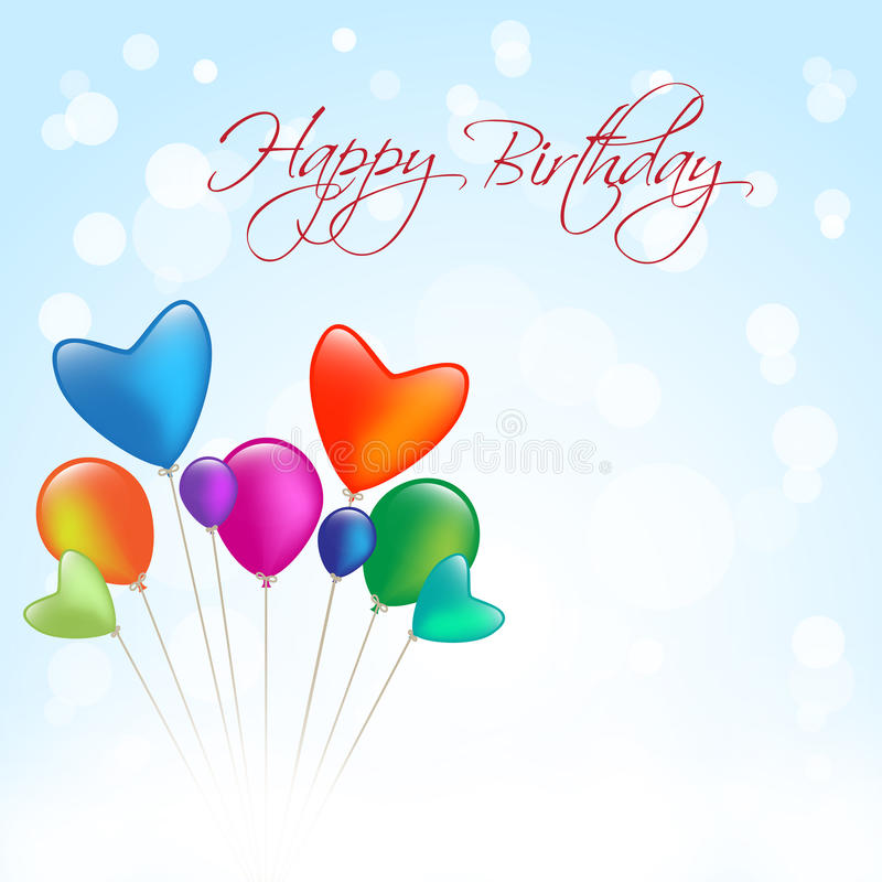 birthday message background ; happy-birthday-message-blue-background-many-balloon-29774392