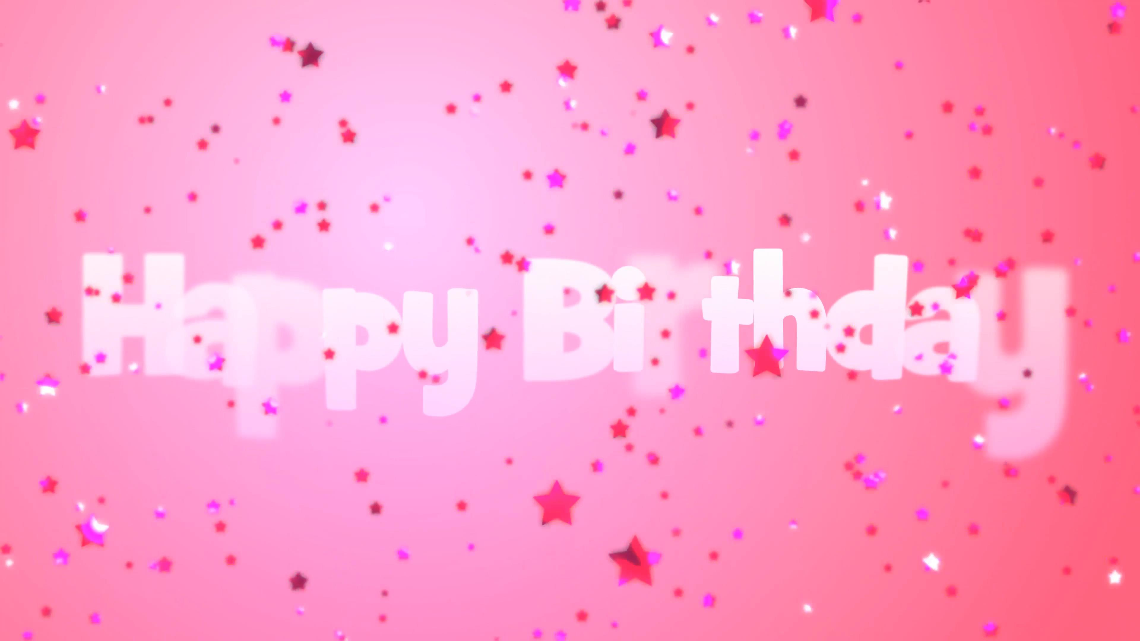 birthday message background ; happy-birthday-message-with-pink-falling-stars-on-a-pink-background_bphl5vfm__F0004