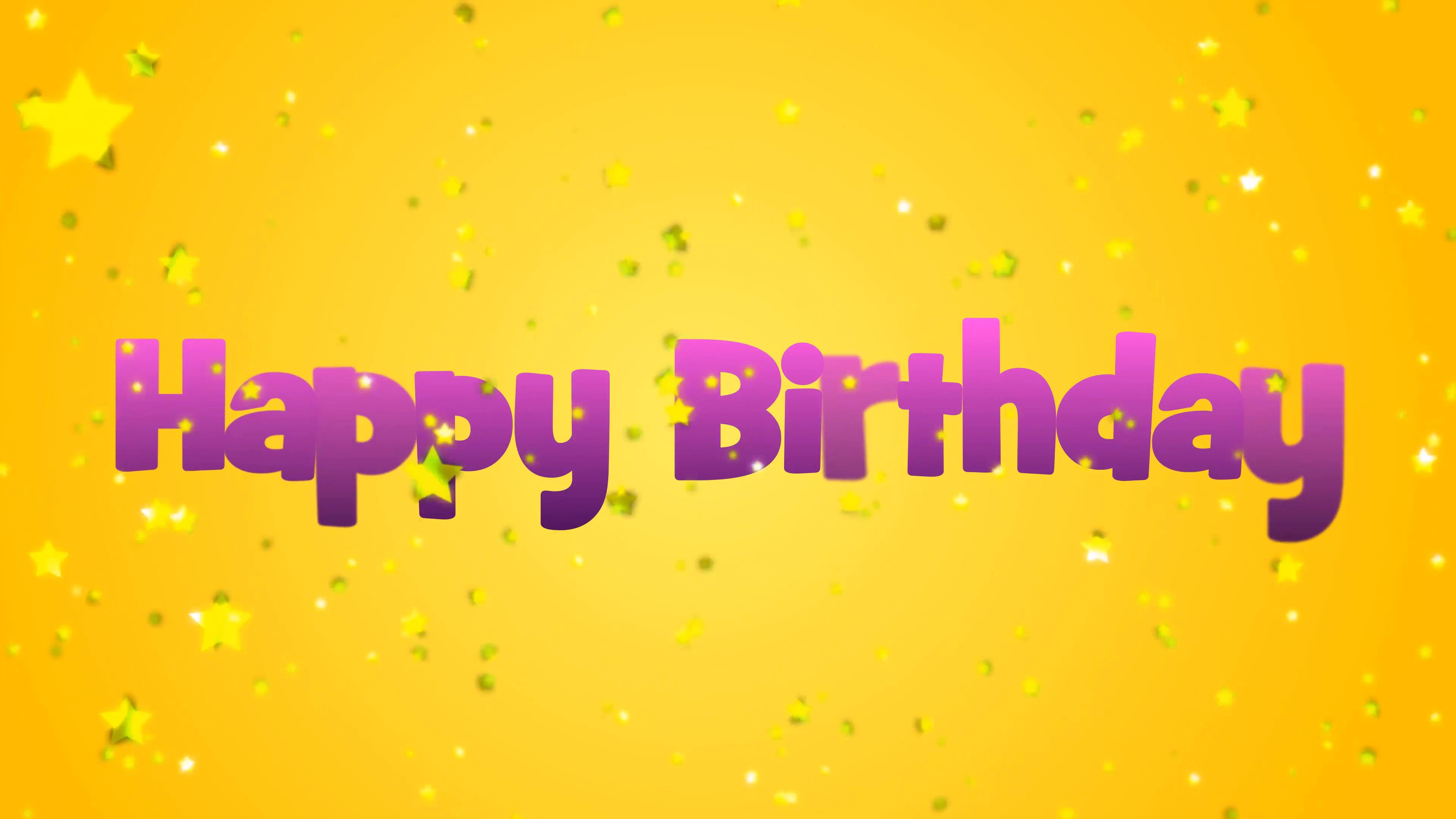 birthday message background ; happy-birthday-message-with-yellow-falling-stars-on-a-yellow-background_b6ssontf__F0009