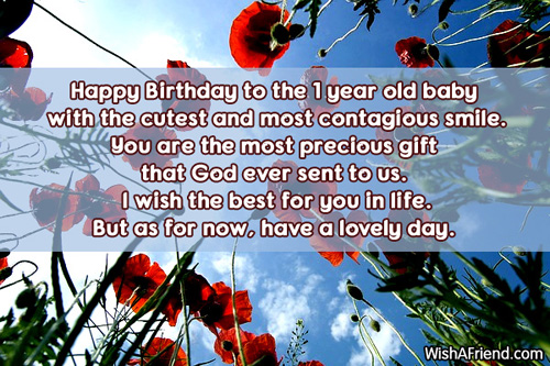 birthday message for 1 year old nephew ; 552-1st-birthday-wishes