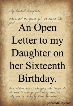 birthday message for 16 year old daughter ; 0f454e477556a3a12823e7ebc80c61a0--my-girl-party-ideas-for-sweet--th-birthday