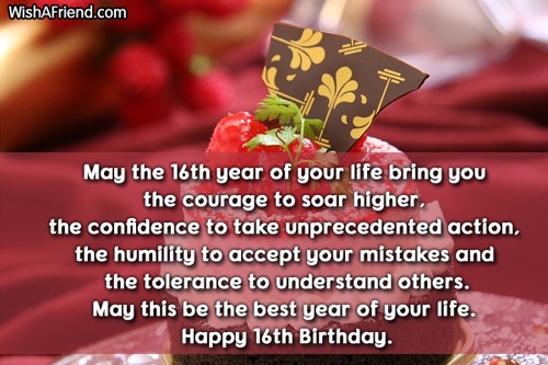 birthday message for 16 year old daughter ; 1920-16th-birthday-wishes