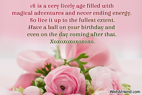 birthday message for 16 year old daughter ; 575-16th-birthday-wishes