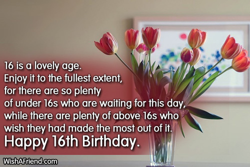 birthday message for 16 year old daughter ; 576-16th-birthday-wishes
