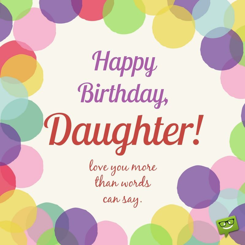 birthday message for 16 year old daughter ; Cute-birthday-wish-for-daughter-on-colorful-background