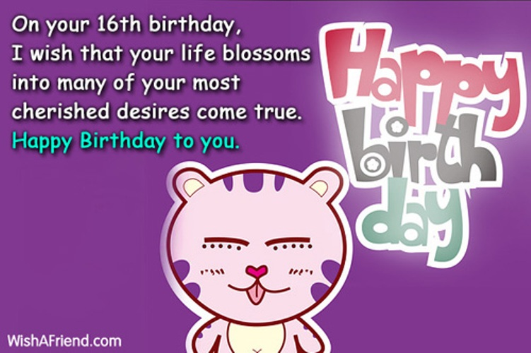 birthday message for 16 year old daughter ; On-You-Sixteen-Birthday-wb16464