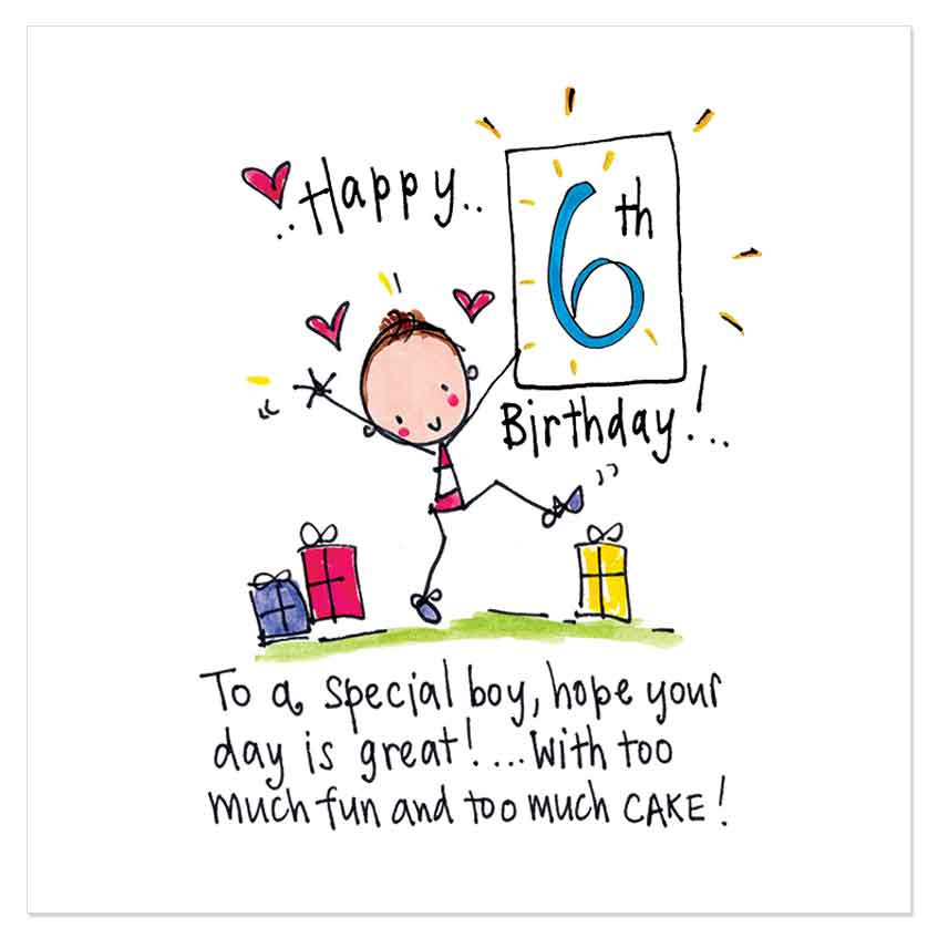 birthday message for 6 year old ; Happy-6th-Birthday-Birthday-Wishes-Messages-Images-Smiles