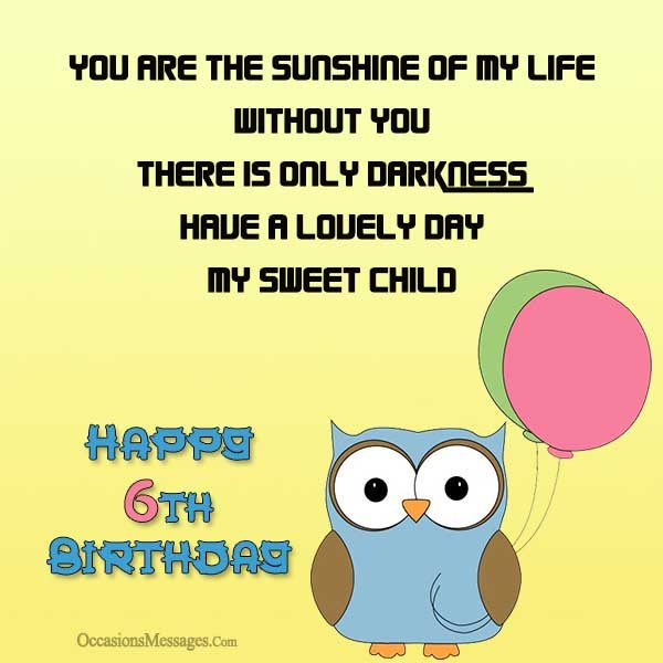 birthday message for 6 year old ; Happy-6th-birthday-cards
