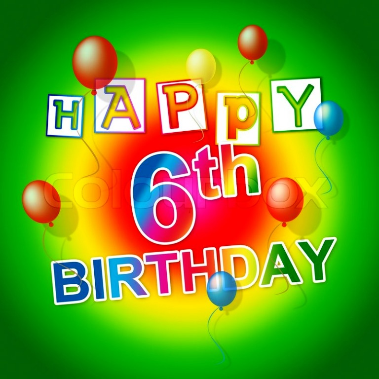 birthday message for 6 year old ; Happy-Six-Year-Old-Baby-wb02604