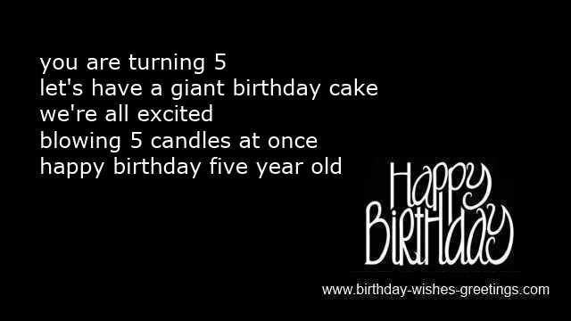 birthday message for a 5 year old ; 5th-birthday-messages