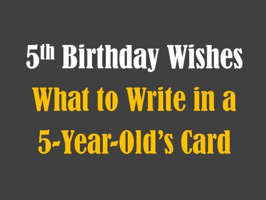 birthday message for a 5 year old ; 8771726_f520