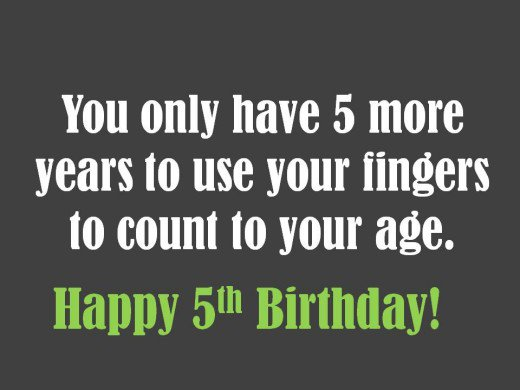 birthday message for a 5 year old ; 8777143_f520