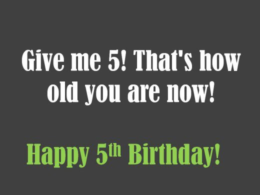 birthday message for a 5 year old ; 8777150_f520