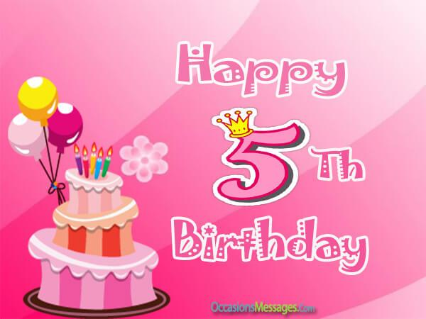 birthday message for a 5 year old daughter ; Happy-5th-birthday-messages