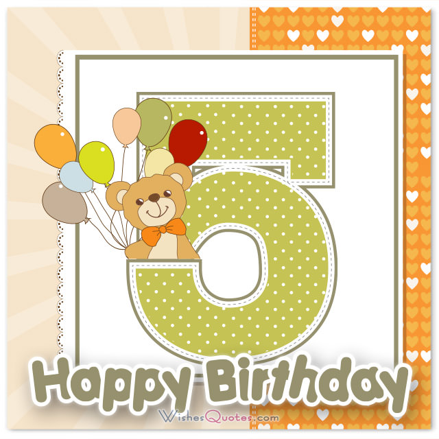 birthday message for a 5 year old daughter ; happy-5th-birthday-cute-card