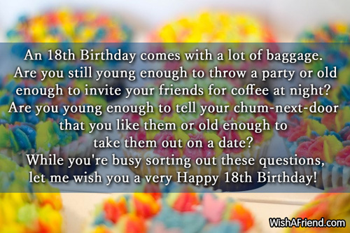 birthday message for a debutant friend ; 1247-18th-birthday-wishes