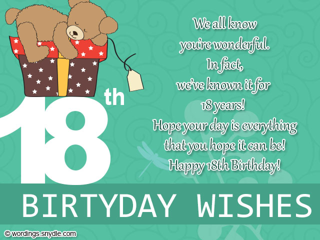 birthday message for a debutant friend ; 18th-birthday-greetings
