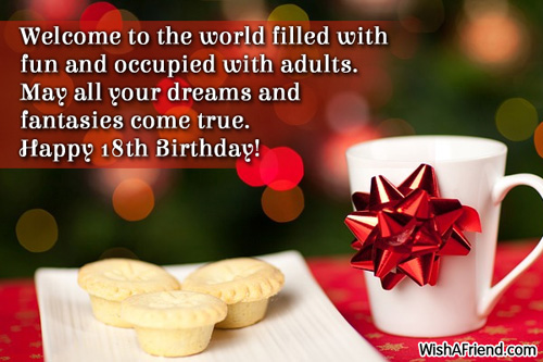 birthday message for a debutant friend ; 585-18th-birthday-wishes