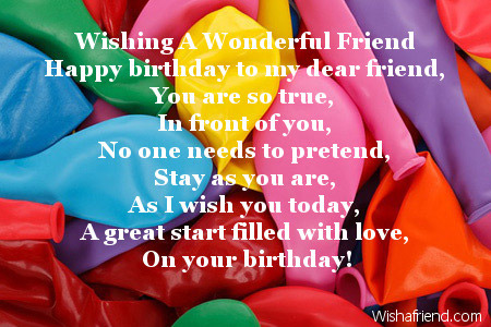 birthday message for a gay friend ; 2135-friends-birthday-poems