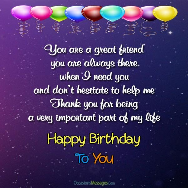 birthday message for a new friend ; Birthday-messages-for-friends