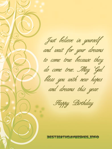 birthday message for a new friend ; new-hopes-birthday-wish