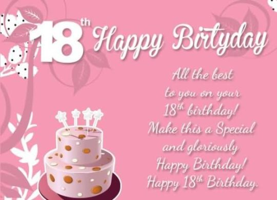 birthday message for a stepdaughter ; Best-18th-Birthday-Wishes-For-Stepdaughter-Greetings-540x390