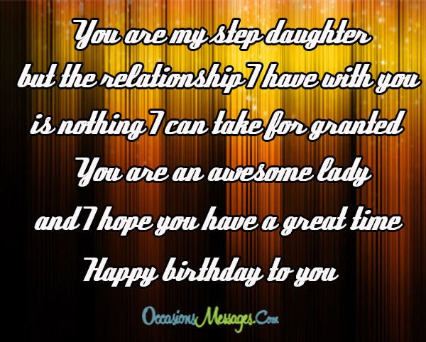 birthday message for a stepdaughter ; Step-Daughter-Birthday-Messages