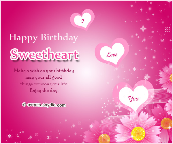 birthday message for a sweetheart ; best-romantic-birthday-messages