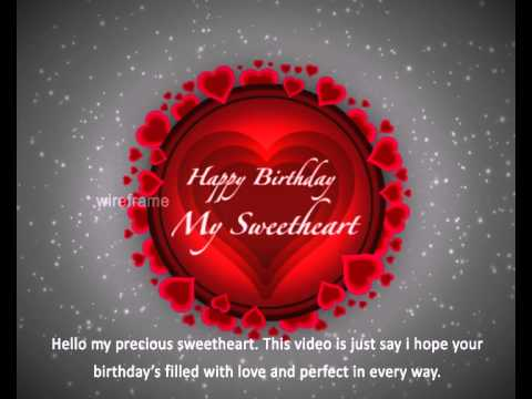 birthday message for a sweetheart ; hqdefault