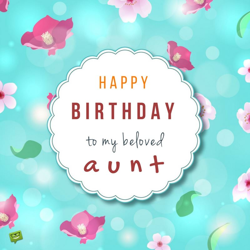 birthday message for aunt ; Birthday-wish-for-aunt-on-cute-floral-background
