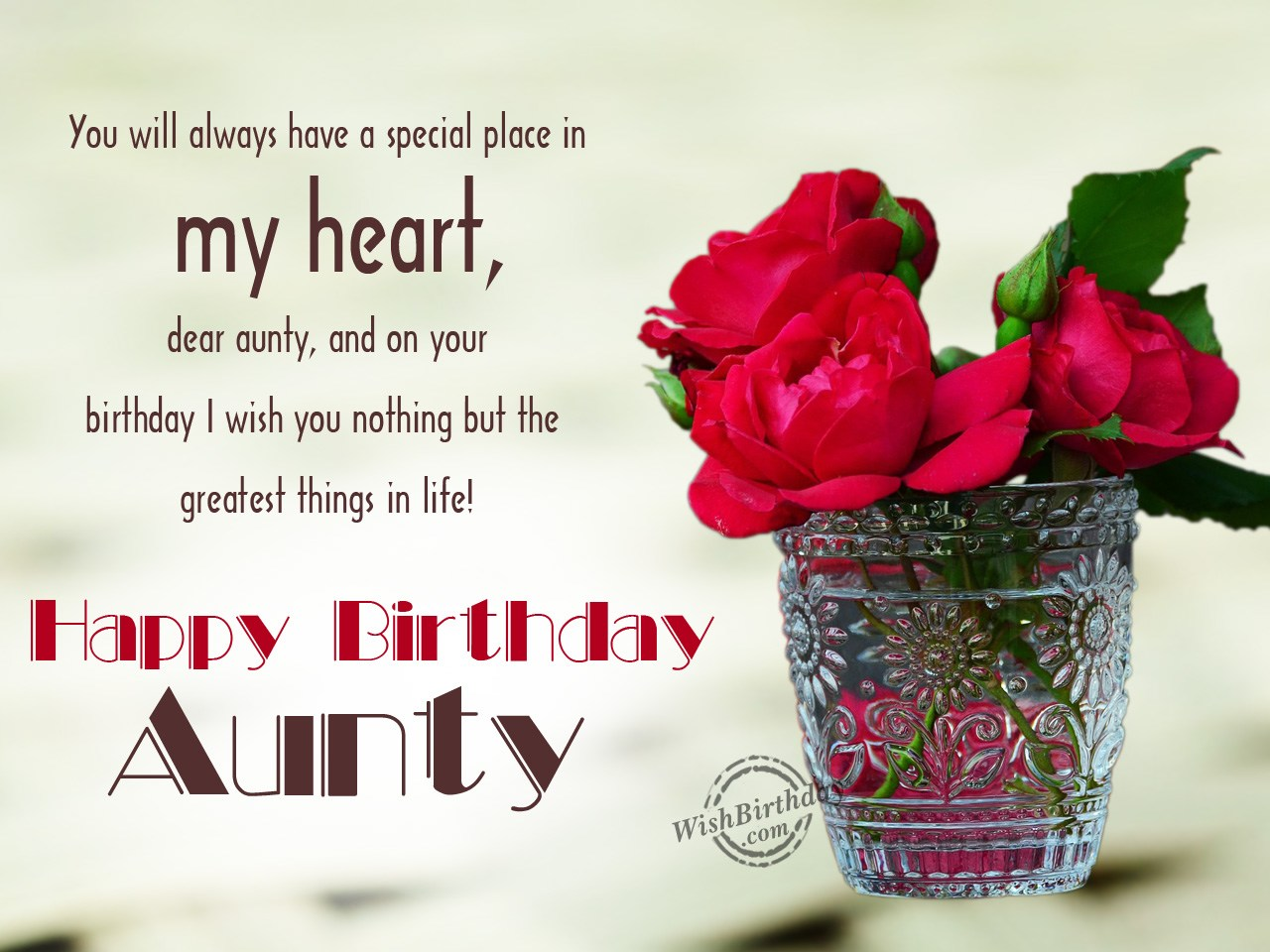 birthday message for aunt ; You-will-always-have-a-special-place-in-my-heart