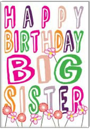 birthday message for big sister ; amazing-colouring-card-of-big-sister