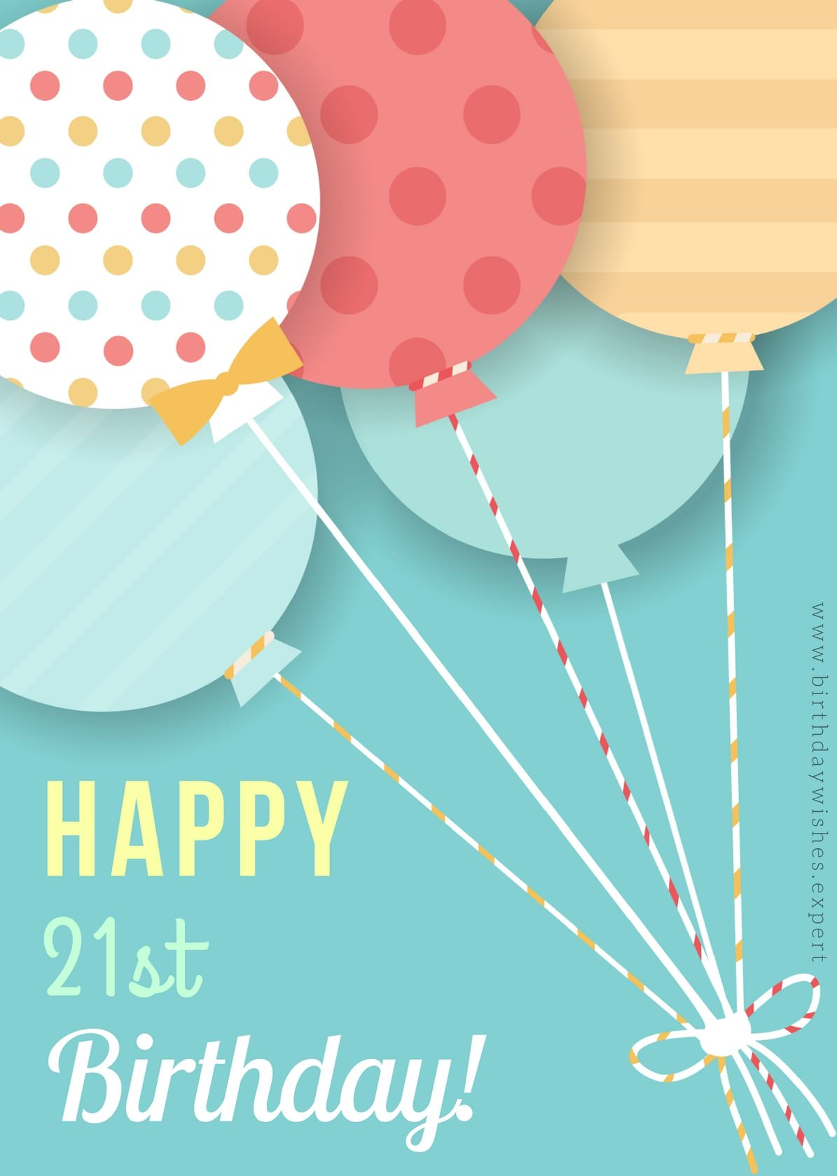 birthday message for boyfriend turning 21 ; Happy-21st-Birthday-wish-on-image-with-colorful-balloons