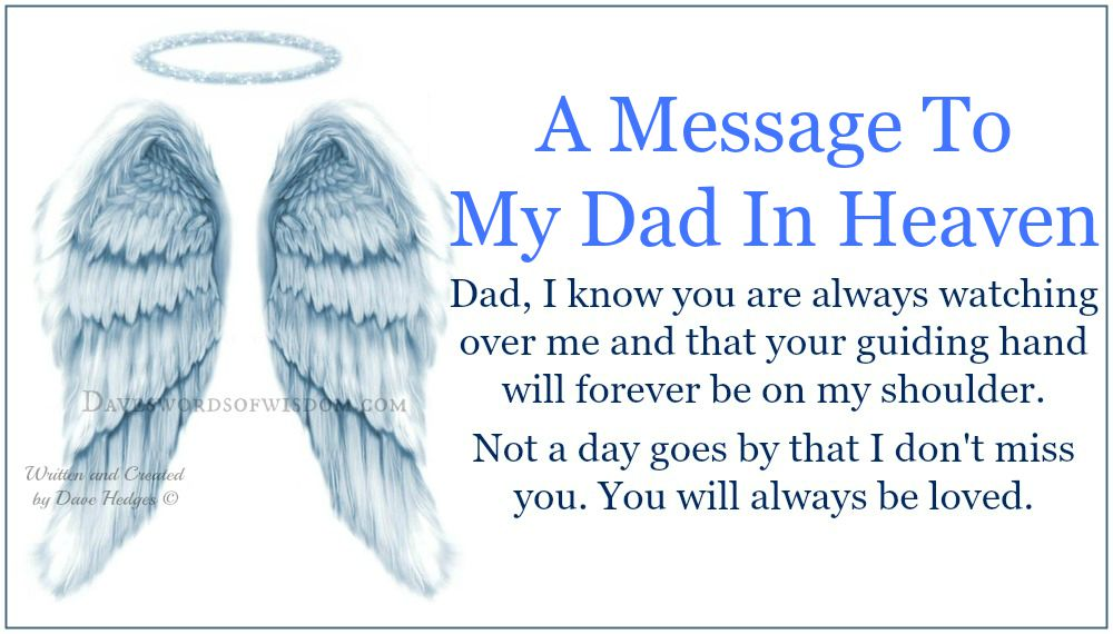 birthday message for dad in heaven ; 4745129