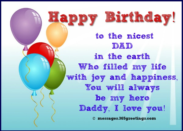 birthday message for father ; birthday-greetings-for-dad