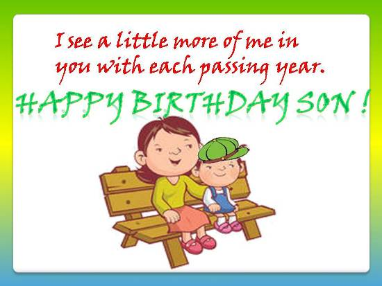 birthday message for kid son ; 305273