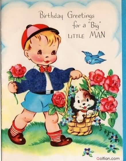 birthday message for little boy ; Awesome-Little-Boy-Carrying-Puppy-In-Basket-Happy-Birthday-Little-Kids-Greetings
