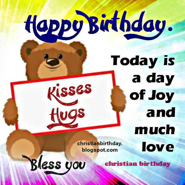 birthday message for little boy ; bless+you+birthday+christian+card