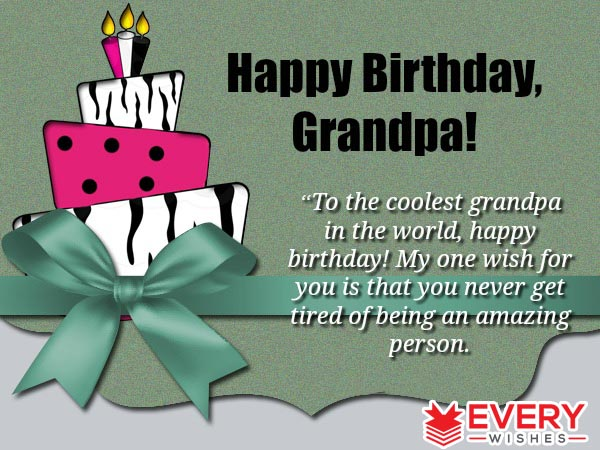 birthday message for my grandfather ; 1-21