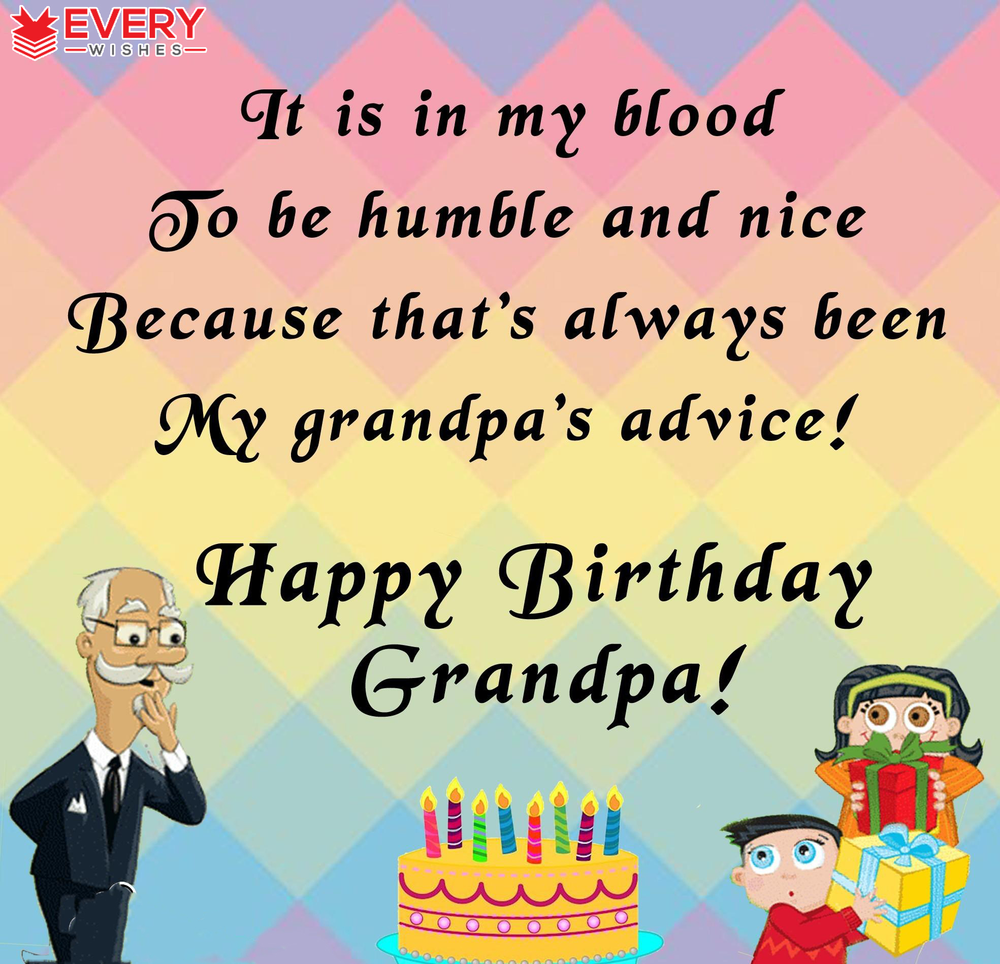 birthday message for my grandfather ; 21-17