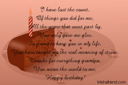 birthday message for my grandfather ; 8432-grandfather-birthday-poems